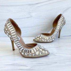 Steve Madden Galactik Rhinestone Gold Wedding Heel